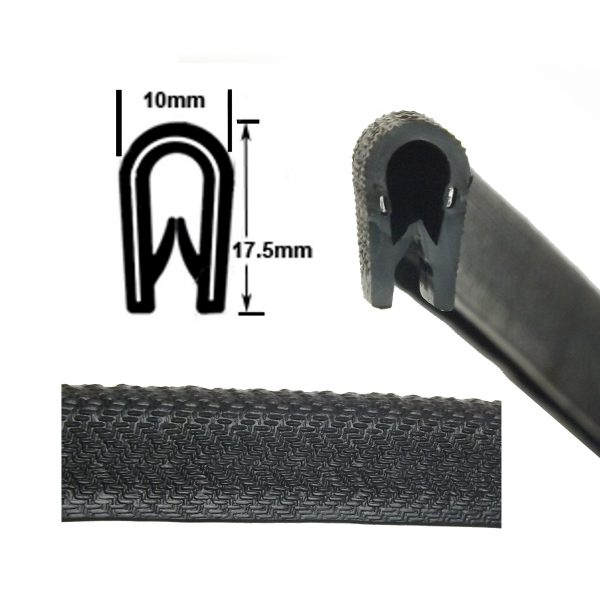 medium black edge trim
