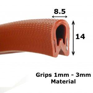 standard maroon edge trim
