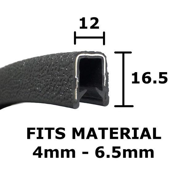 12 x 16.5 Black Edge trim