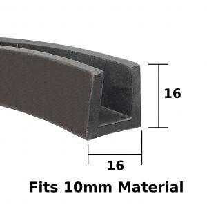 16mm rubber u channel