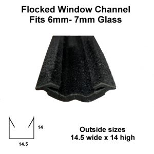 flocked window u channel