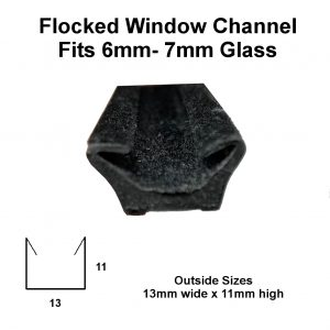 Flocked window channel