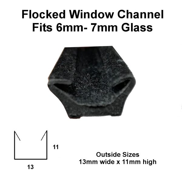 Flocked window channel