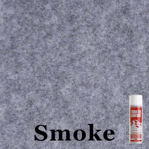 Smoke 4 way stretch van lining carpet