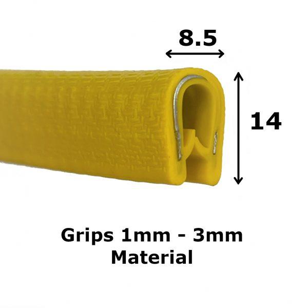 Yellow PVC Edge Trim